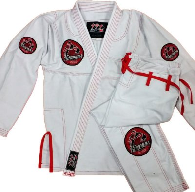Kimono Branco 777 - Patches