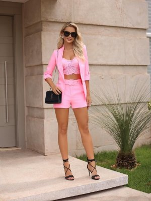 Cropped Rosa Fluor