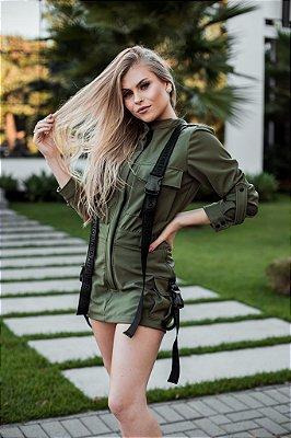 Macaquinho Karen MondaBelle Verde Militar