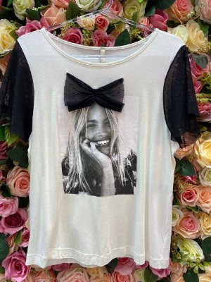 Camiseta tulê preto