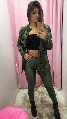 Legging Disco Verde Militar