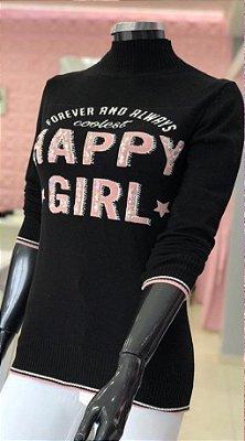 Blusa Tricô Happy Girl M