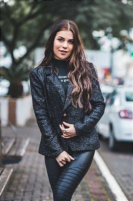 Blazer Tweed Shine Black