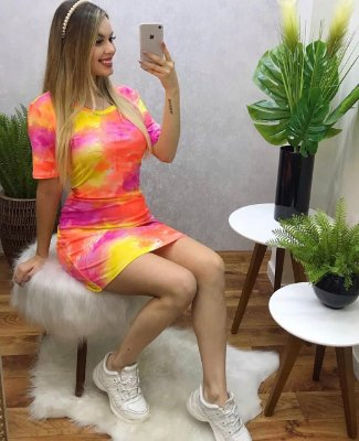 Vestido Tie dye Orange