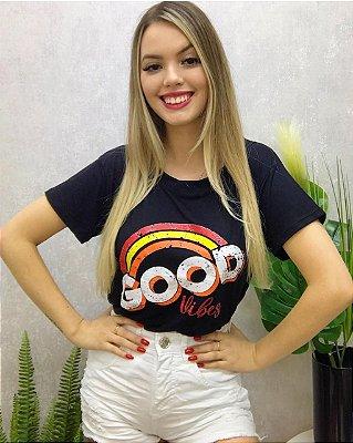 T-shirt Good Preta