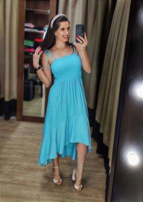 Vestido Muller Lastex Azul