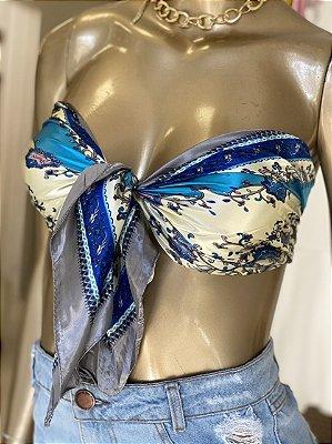 Lenço Azul Cetim
