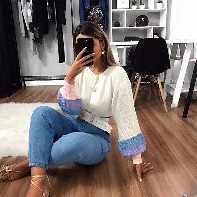Blusa Sonia Listras - Branco