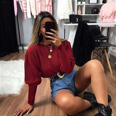 Blusa Fang Bufante - Vermelho Queimado