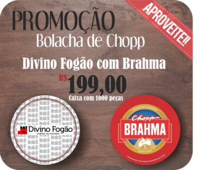 Nova Bolacha de Chopp Brahma x Divino Fogão
