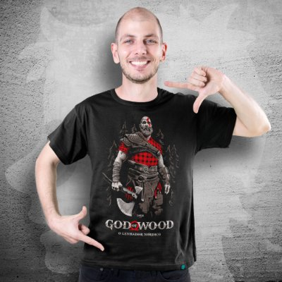 CAMISETA GOD OF WAR | GOD OF WOOD | MASCULINA