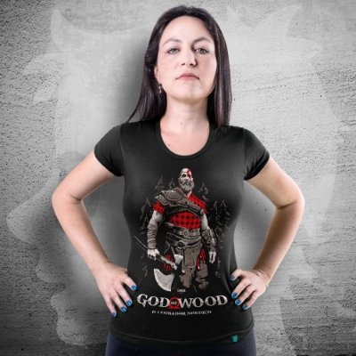 CAMISETA GOD OF WAR | GOD OF WOOD | FEMININA