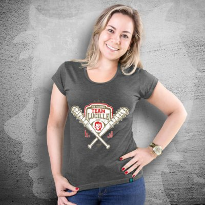 CAMISETA THE WALKING DEAD | TEAM LUCILLE | FEMININA