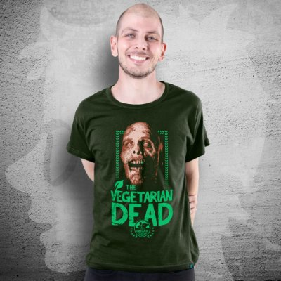 CAMISETA THE WALKING DEAD | THE VEGETARIAN DEAD | MASCULINA