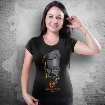 CAMISETA BREAKING BAD | WALTER CHEF | FEMININA