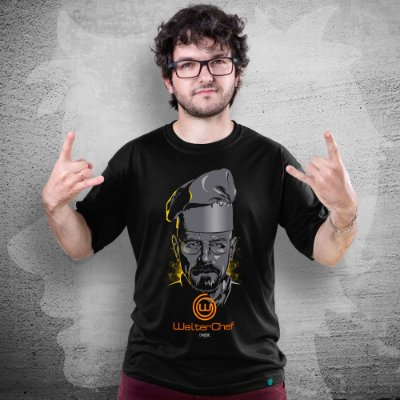 CAMISETA BREAKING BAD | WALTER CHEF | MASCULINA