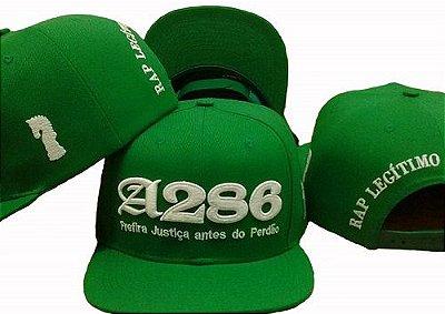 Boné A286, verde e branco