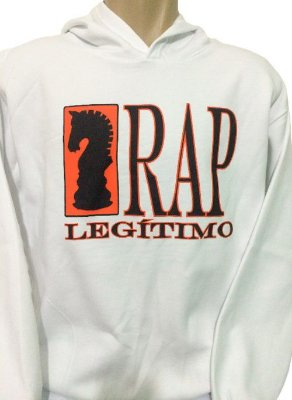 Moletom Rap Legítimo, branco, preto e laranja