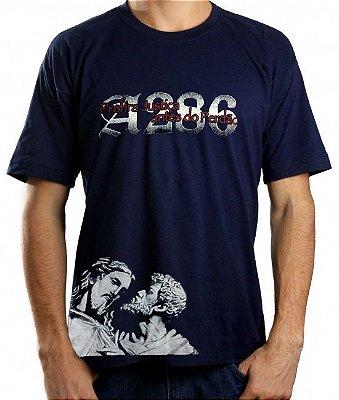 Camiseta A286 Cristo, azul marinho