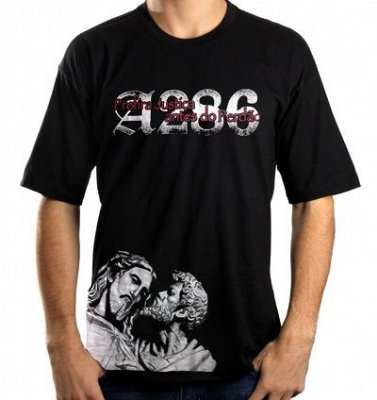 Camiseta A286 Cristo, preta
