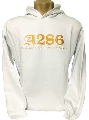 Moletom A286 II, branco e dourado