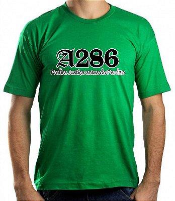 Camiseta A286, verde e preta/branca