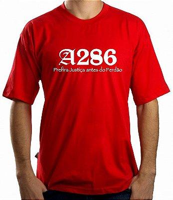 Camiseta A286, vermelha e branca