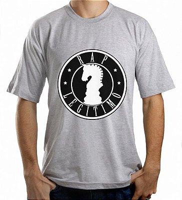 Camiseta Rap Legítimo, cinza e preta
