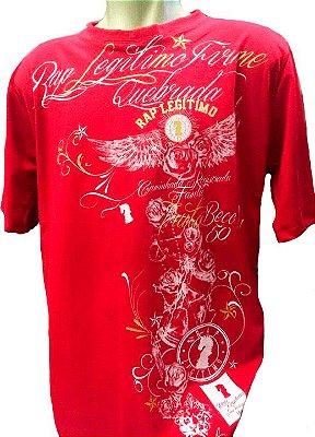 Camiseta Rap Legítimo, quebrada, vermelha