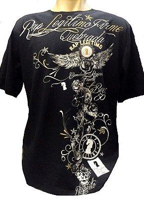 Camiseta Rap Legítimo, quebrada, preta