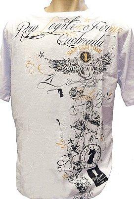 Camiseta Rap Legítimo, quebrada, branca