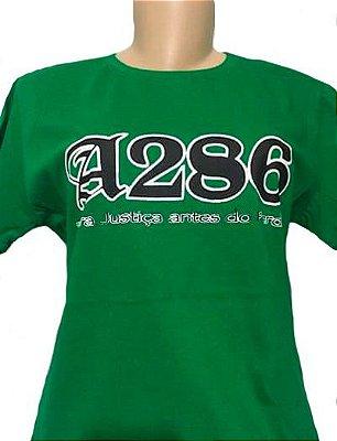 Baby look A286, verde e preta