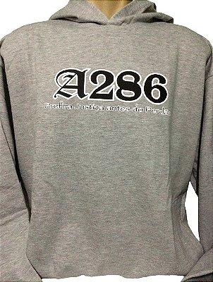 Moletom A286 II, cinza e preto