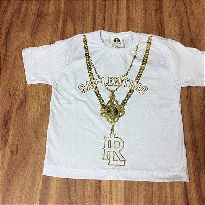 Camiseta Rap Legitimo, corrente, infantil, branca