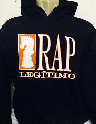 Moletom Rap Legítimo, preto e laranja