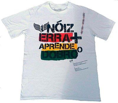 """Camiseta 1DASUL, """"Nóiz Erra"""", branca"""
