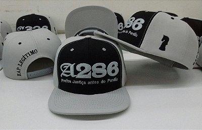 Boné A286, cinza e preto