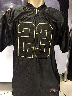 Camiseta Rap Legítimo, 23 preta e dourado