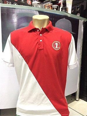 Camisa Polo Rap Legítimo Piquet - Vermelho e Branco