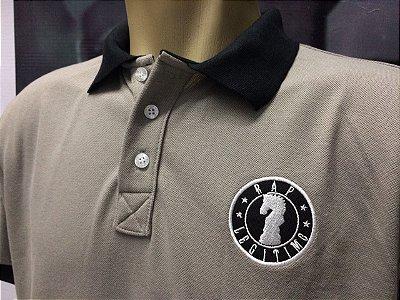 Camisa Polo Rap Legítimo Piquet - Cinza e preto