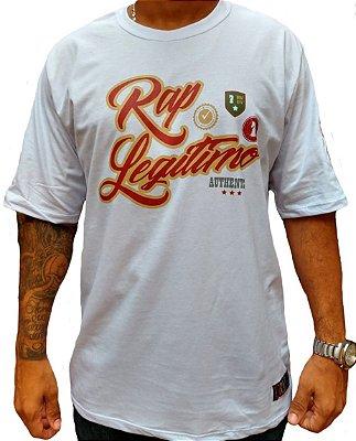 Camiseta Rap Legítimo, branca - Coleção 2019
