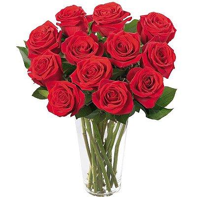 Arranjo de Rosas Vermelhas - Romance Ideal