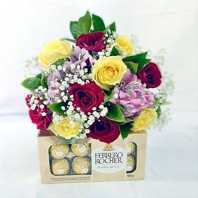 Dona - 10 Rosas + Ferrero Rocher