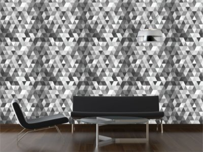 Papel de Parede Triangles Black