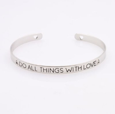 BRACELETE DO ALL THINGS WITH LOVE