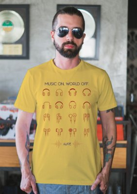 Camiseta Music ON World OFF