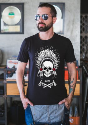 Camiseta Native Skull