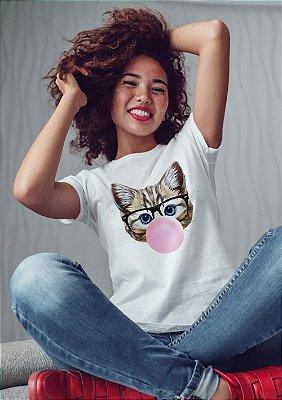 Camiseta Gato Bola Chiclete
