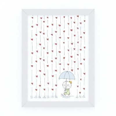 Quadro CHUVA DE AMOR - by Life on a Draw