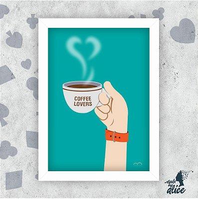 Quadro MÃOS AO ALTO - COFFEE LOVERS - by Marcos Bernardes